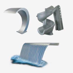 Diseños de agua y toboganes