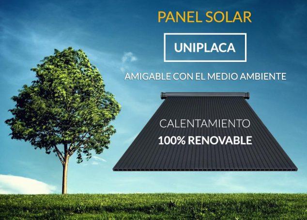 Panel solar uniplaca